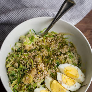 Hard Boiled Egg and Brussels Sprout Bowl.