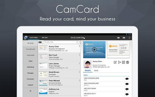 CamCard - przykłądowa aplikacja do skanowania wizytówek