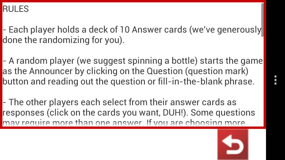 Horrible Cards - screenshot