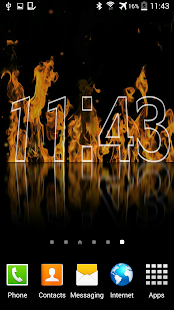 Fire Clock Live Wallpaper- screenshot thumbnail