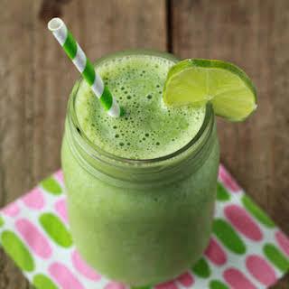 Vanilla Lime Green Smoothie.