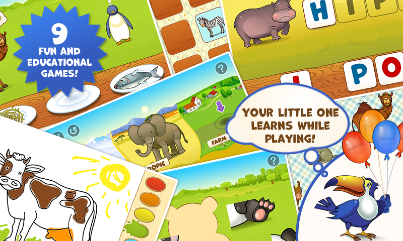 Zoo Playground: Kids game set- screenshot