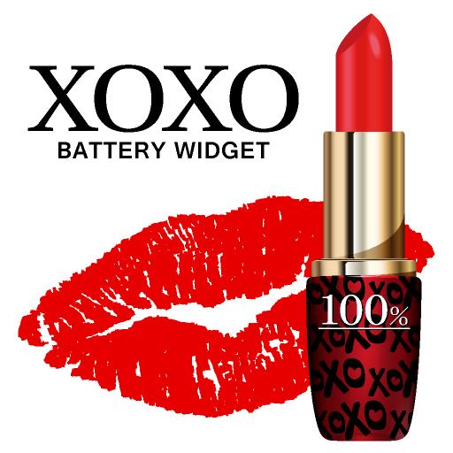 XOXO 電池-かわいいルージュで電池長持ち♪-無料 個人化 App LOGO-硬是要APP