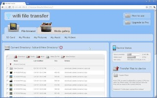 Screenshot of WiFi File Transfer