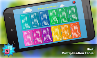 Screenshot of Math.Multiplication table Free