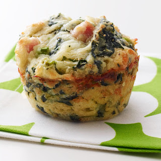 Ham and Spinach Savory Muffins Recipe