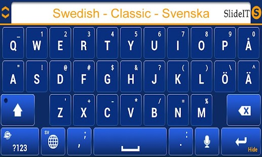SlideIT Swedish Classic Pack - screenshot thumbnail