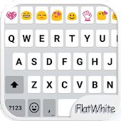 Flat White Emoji Keyboard