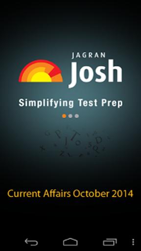 Current Affairs October-2014