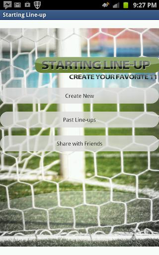 Starting Line-Up