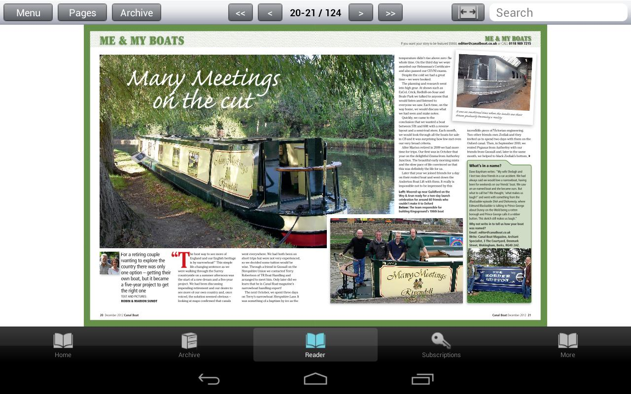 Canal Boat Magazine - screenshot