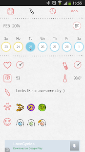 LoveCycles Menstrual Calendar- screenshot thumbnail