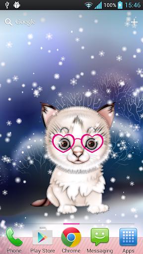 冬季可愛貓咪動態桌布