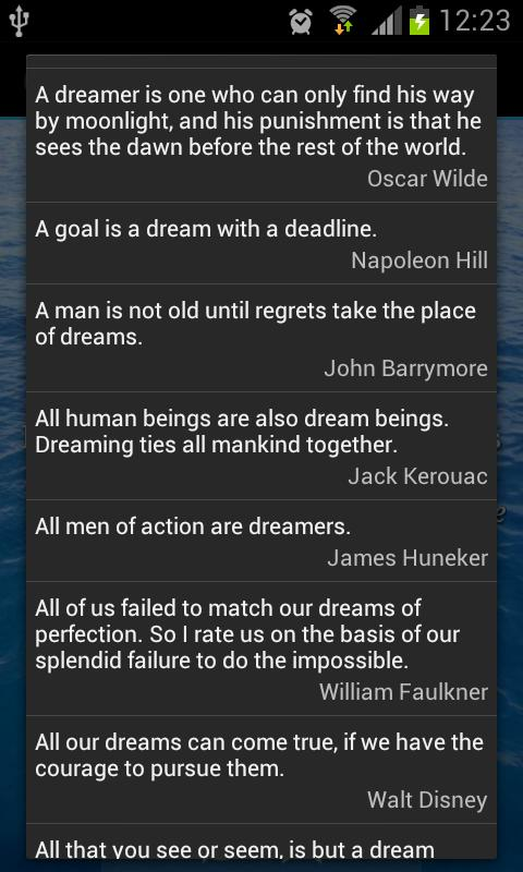 Dream Quotes - screenshot