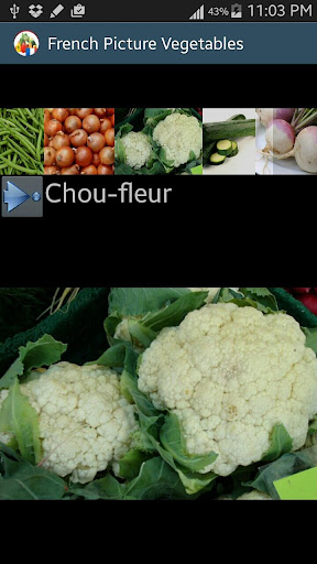 vegetables's names in french