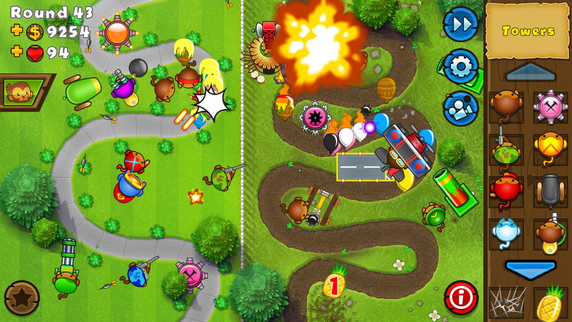 #4. Bloons TD 5 (Android)