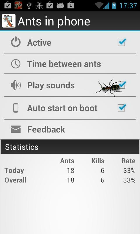 Ants in Phone - screenshot