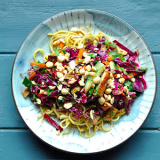Noodle Salad with Baked Tofu.