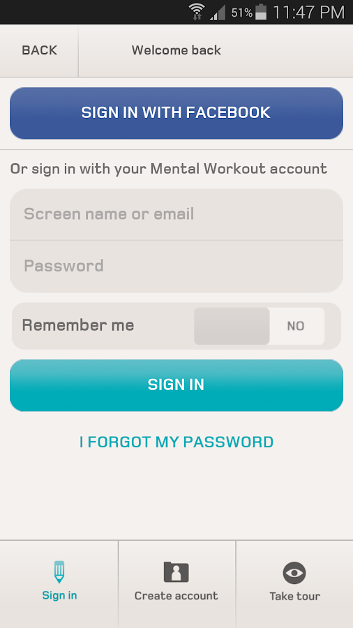 Mental Workout - screenshot