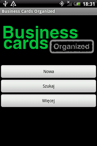 Business cards organized Pro