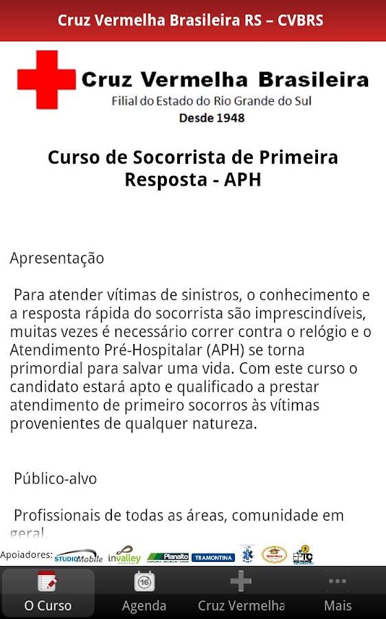 Curso APH Cruz Vermelha BR RS - screenshot