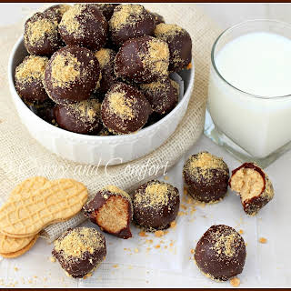 Chocolate and Peanut Butter Truffles.