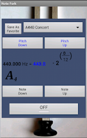 Screenshot of Note Calculator & Tuning Fork