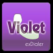 exDialer Theme - SSB Violet