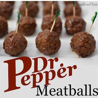 Dr Pepper Meatballs.