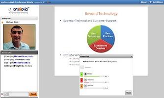 Screenshot of omNovia Web Conference Mobile