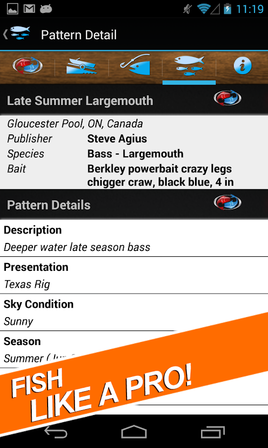 MFP Fishing Log Journal- screenshot