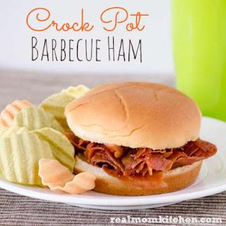 Crock Pot Barbecue Ham.