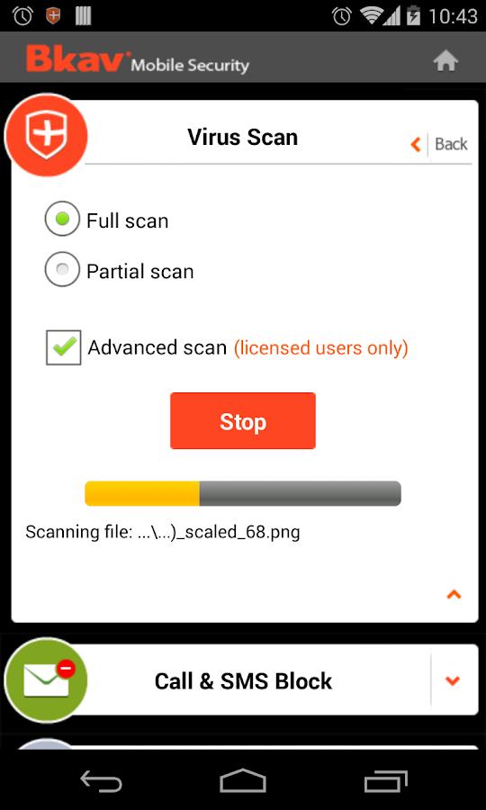 Bkav Security - Antivirus Free - screenshot