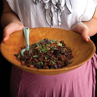 Laab (Thai Minced Pork Salad).