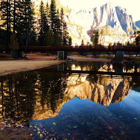 Crystal Clear by Brendan Mcmenamy - Novices Only Landscapes ( water, reflection, mountain, yosemite, bridge )