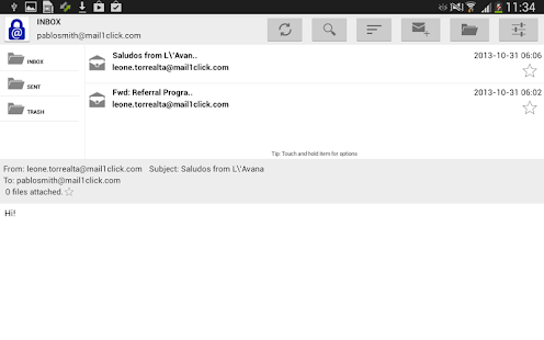 Mail1Click - Secure Mail - screenshot thumbnail