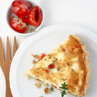 Feta, Peppadew and Thyme Quiche for a Blogger Photo Afternoon Recipe