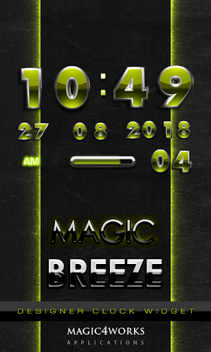 Breeze Digital Clock Widget