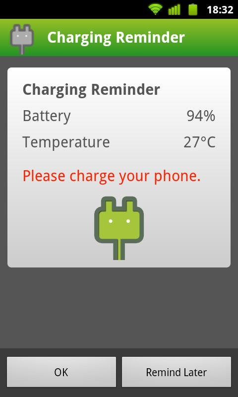 Charging Reminder- screenshot