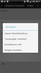 Brainfuck Interpreter Screenshot 2