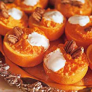 Mashed Yams in Orange Cups.