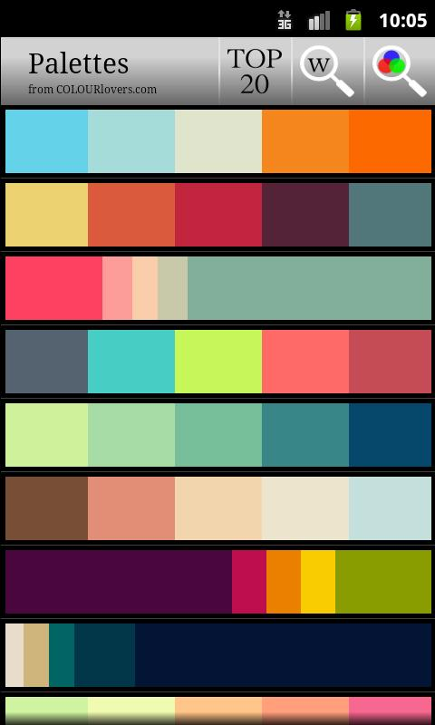color palette - android apps on google play