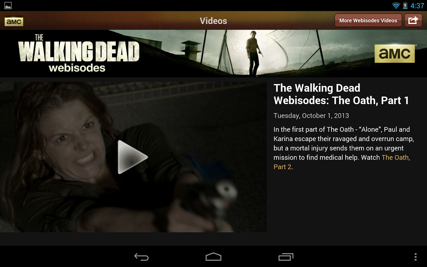 AMC Mobile for tablet - screenshot