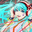 Hatsune miku's music icon
