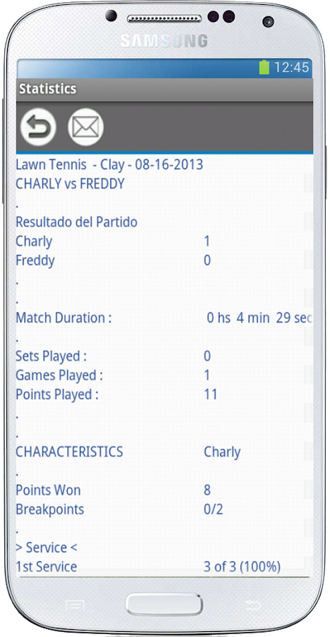Tennis Stats Pro (free)- screenshot