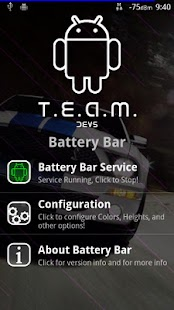 T.E.A.M. Battery Bar Screenshot 1