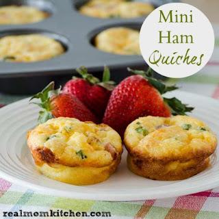 Mini Ham Quiches.
