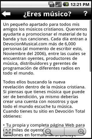 Encontrar Música Cristiana - screenshot