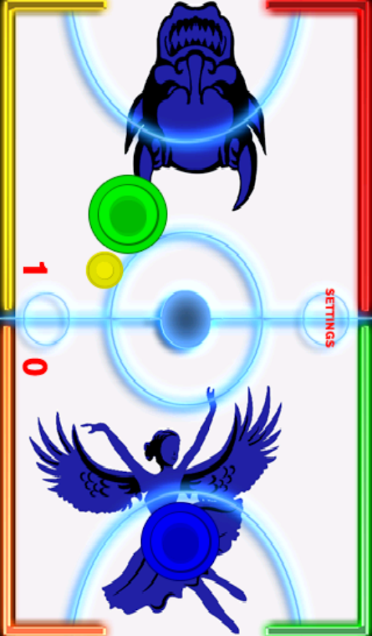 Glow Hockey- Angels vs. Demons- screenshot