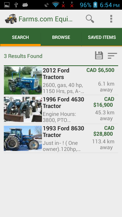 Farms.com Used Farm Equipment- screenshot